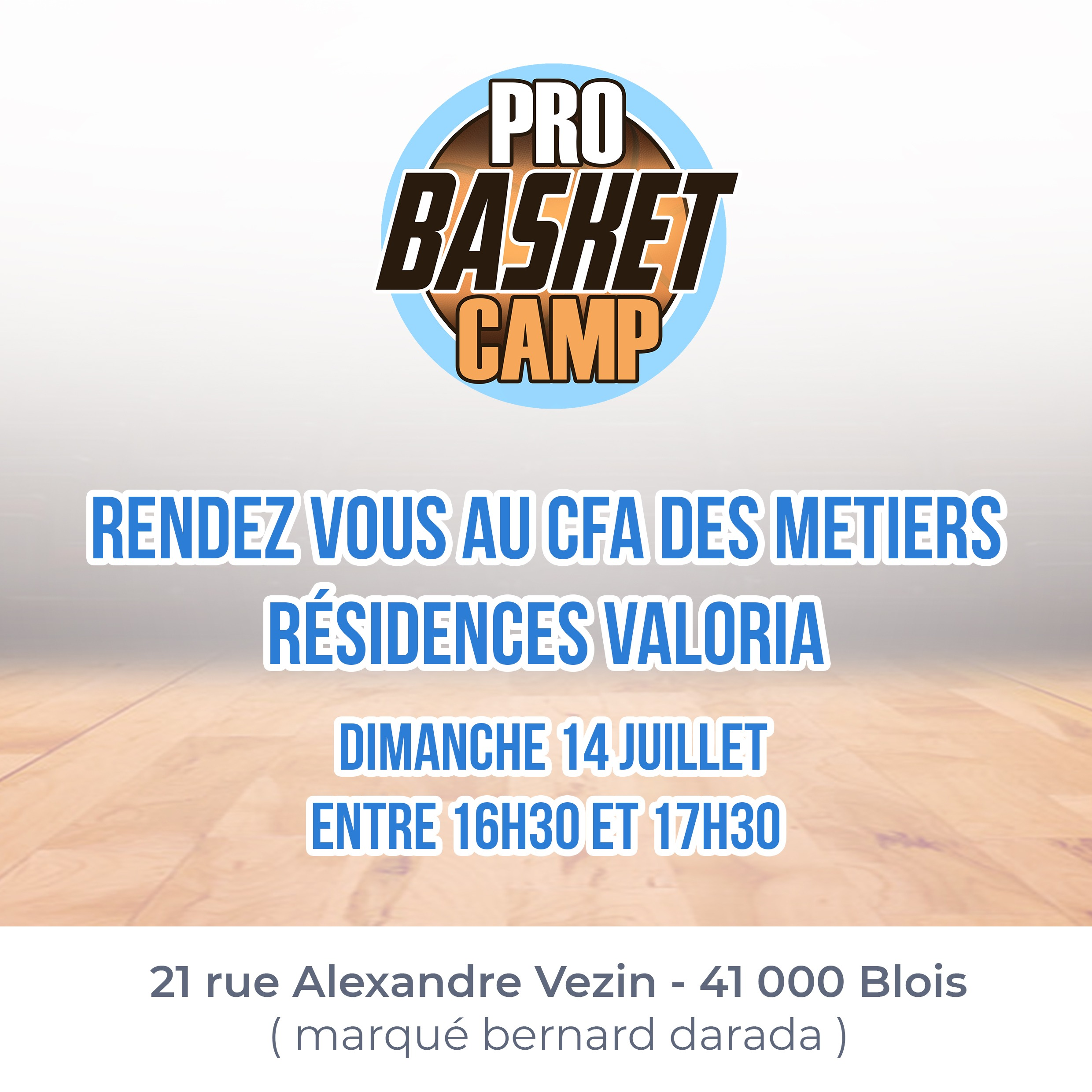 illustration Le Pro Basket Camp 2019 arrive !